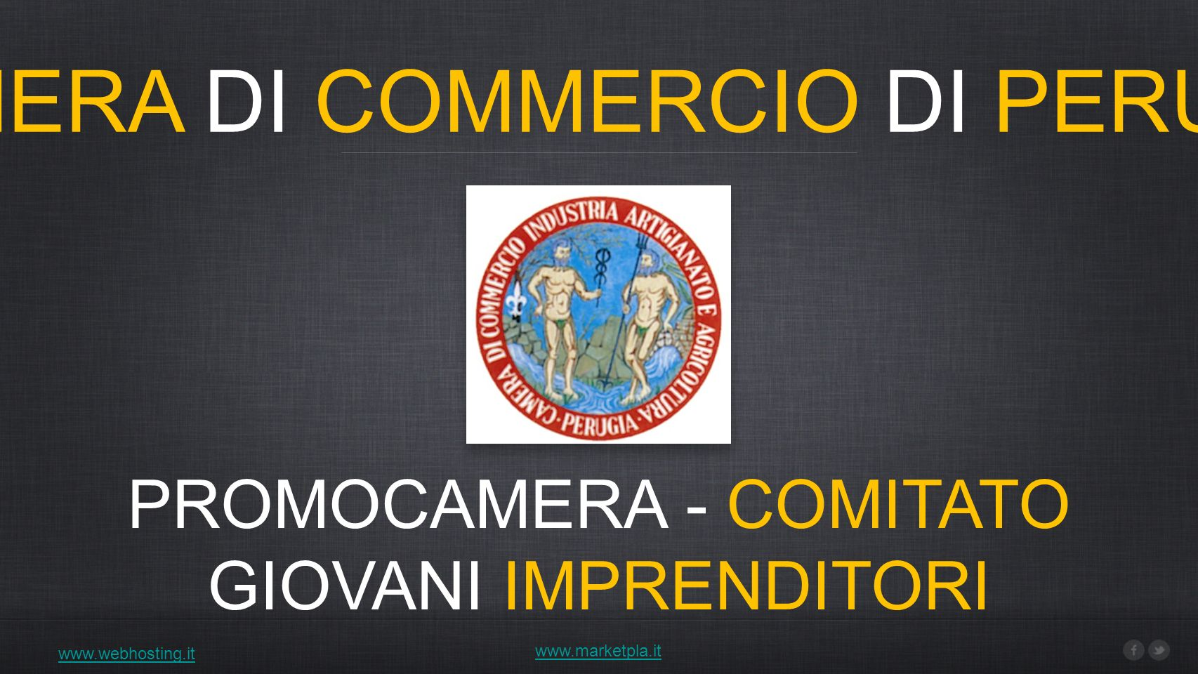 CAMERA DI COMMERCIO DI PERUGIA PROMOCAMERA - COMITATO GIOVANI IMPRENDITORI www.webhosting.it www.marketpla.it