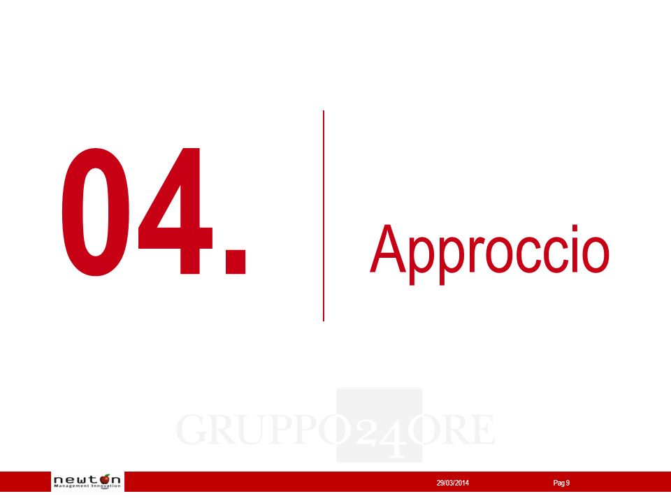 Network24 29/03/2014Pag 9 04. Approccio