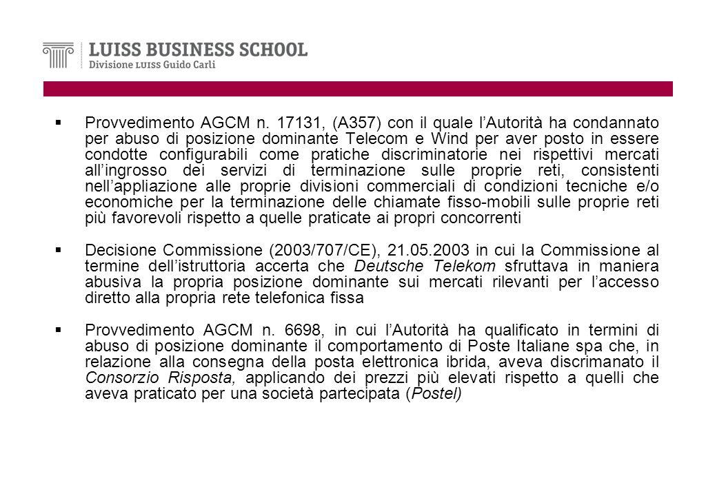 Provvedimento AGCM n.