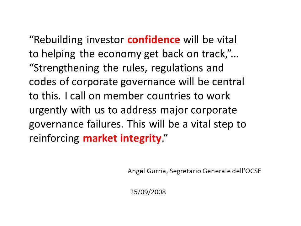 E.I mercati del controllo societario dovrebbero poter funzionare in modo efficiente e trasparente.