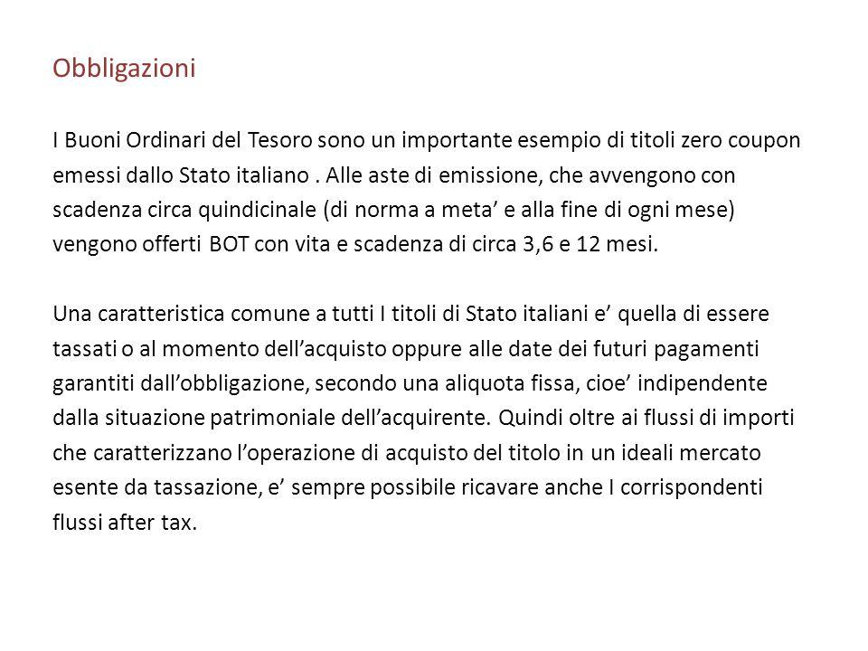 Obbligazioni I Buoni Ordinari del Tesoro sono un importante esempio di titoli zero coupon emessi dallo Stato italiano. Alle aste di emissione, che avv