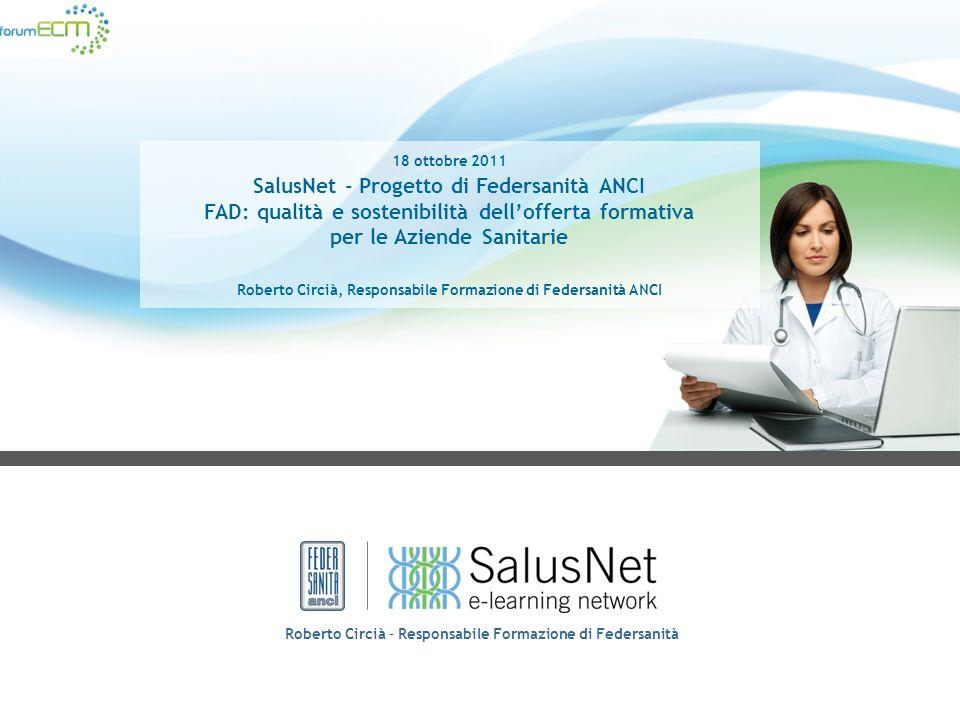 Altri servizi offerti da SalusNet Agli associati a SalusNet saranno offerti anche i seguenti servizi Fornitura della piattafroma di eLearning di SalusNet La piattaforma è integrata con i protocolli previsti nellarea aziendale dedicata alla formazione.