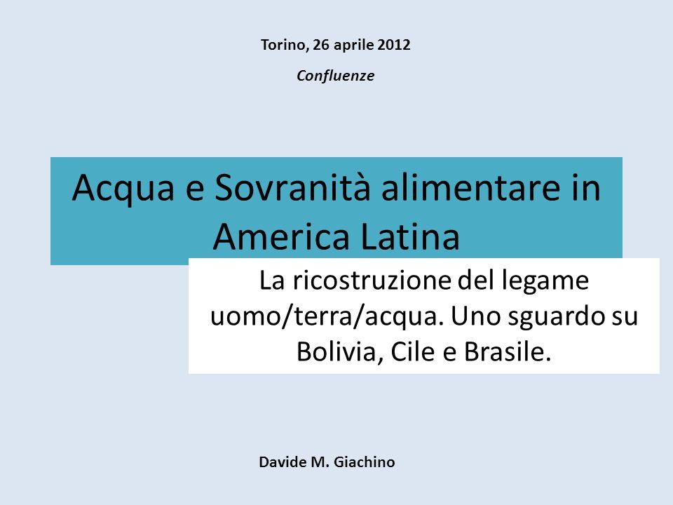 Acqua e America Latina Uso dellAcqua Consuntivo Acque per il consumo : domestico (4,4%), minerario (6,7%), industriale (7,9%), agricolo (81%).