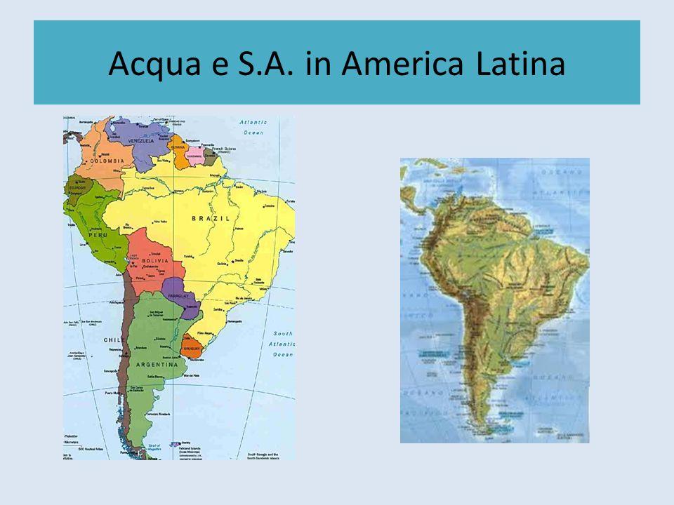 Acqua e America Latina La Patagonia Seconda riserva dacqua dolce del pianeta; Lago General Carrera, Lago OHiggins; Rio Baker, Rio Aysén 20.000 km ² ricoperti di ghiacciai ²