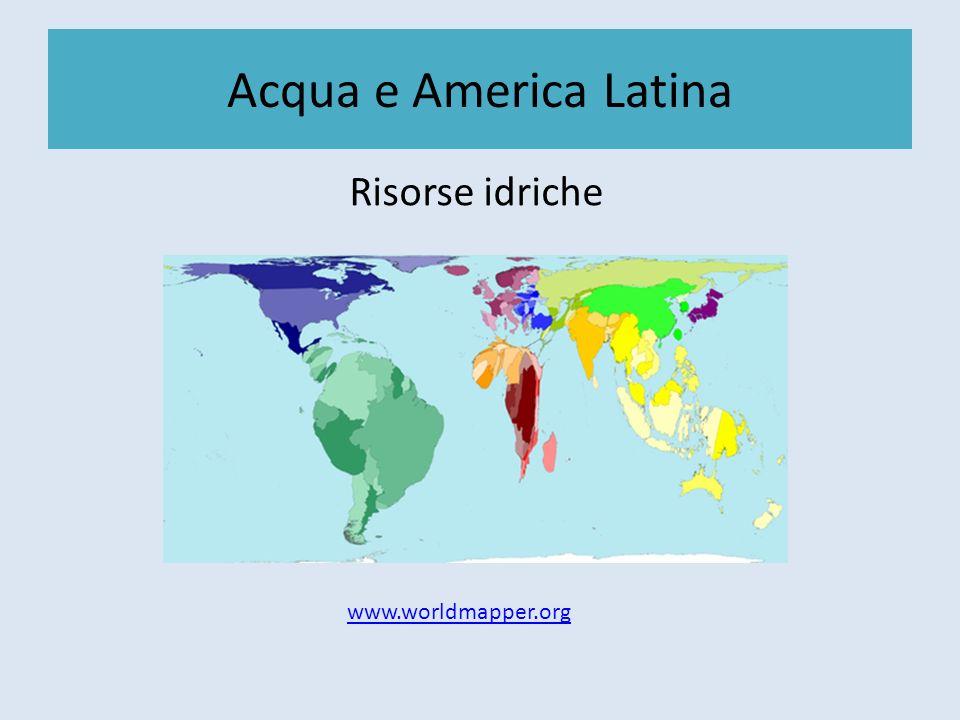 Acqua e America Latina Precedenti: la diga Ralco Nel 1993 Endesa Chile propone allo Stato la costruzione di una diga nella conca superiore del fiume Bìo Bìo, nel valico Ralco.