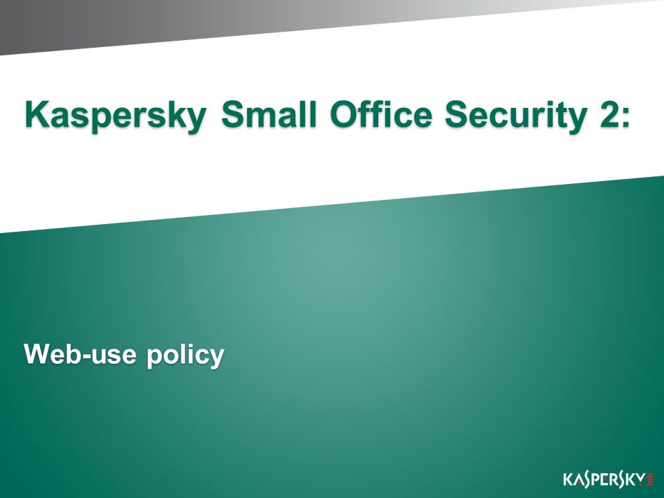 Kaspersky Small Office Security 2: Web-use policy