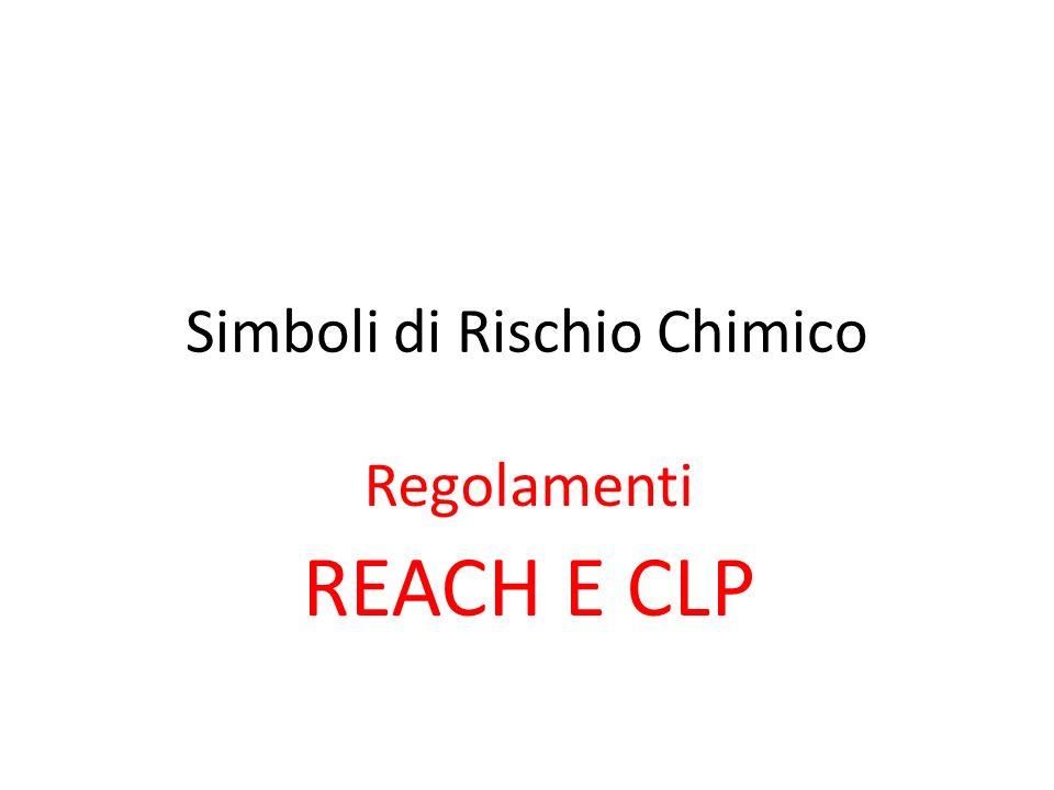 Simboli di Rischio Chimico Regolamenti REACH E CLP