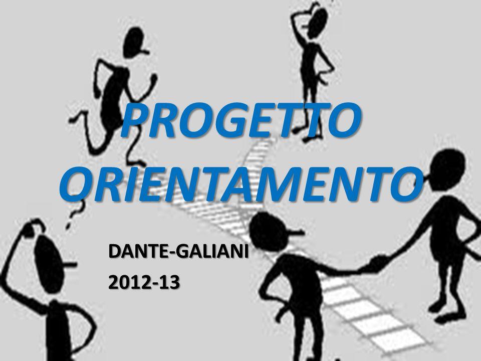 PROGETTO ORIENTAMENTO DANTE-GALIANI2012-13