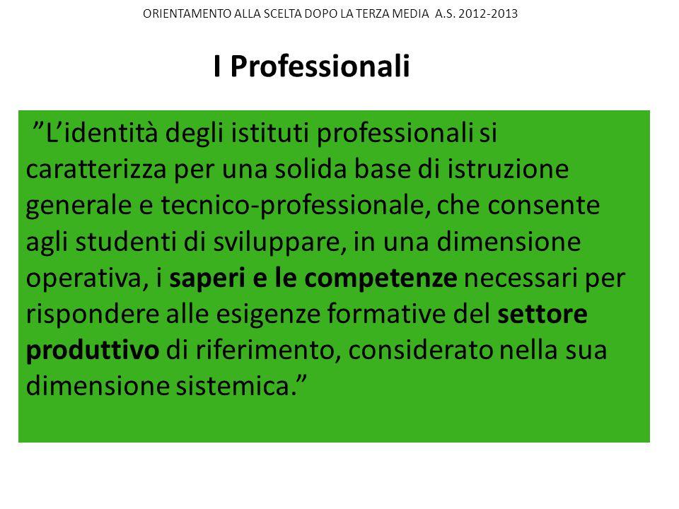 Lidentità degli istituti professionali si caratterizza per una solida base di istruzione generale e tecnico-professionale, che consente agli studenti
