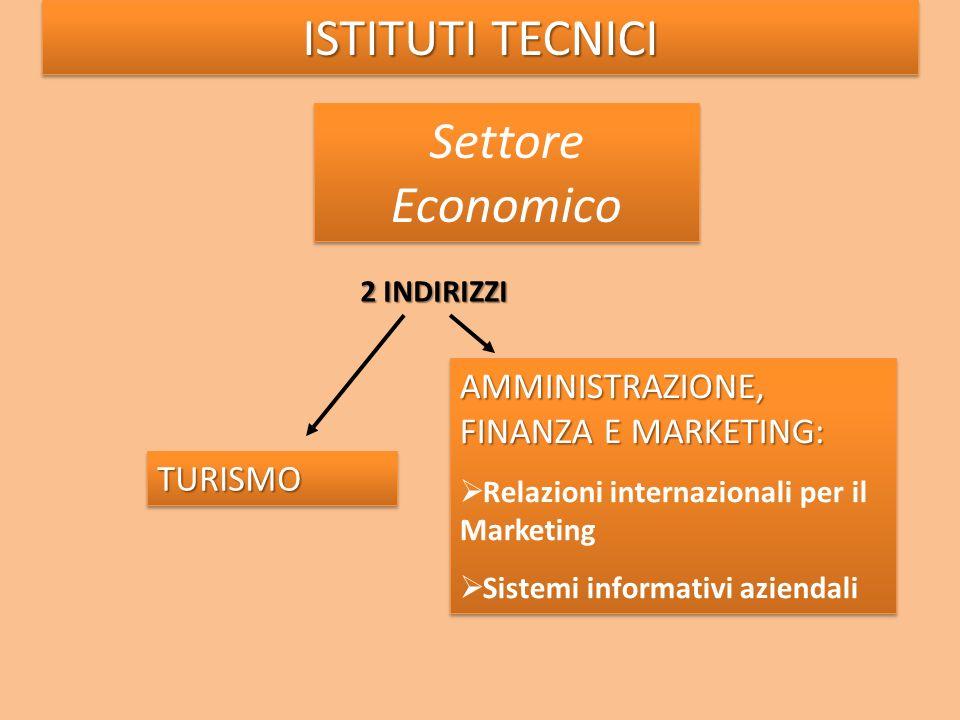 2 INDIRIZZI AMMINISTRAZIONE, FINANZA E MARKETING: Relazioni internazionali per il Marketing Sistemi informativi aziendali AMMINISTRAZIONE, FINANZA E M