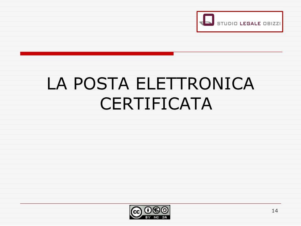 LA POSTA ELETTRONICA CERTIFICATA 14