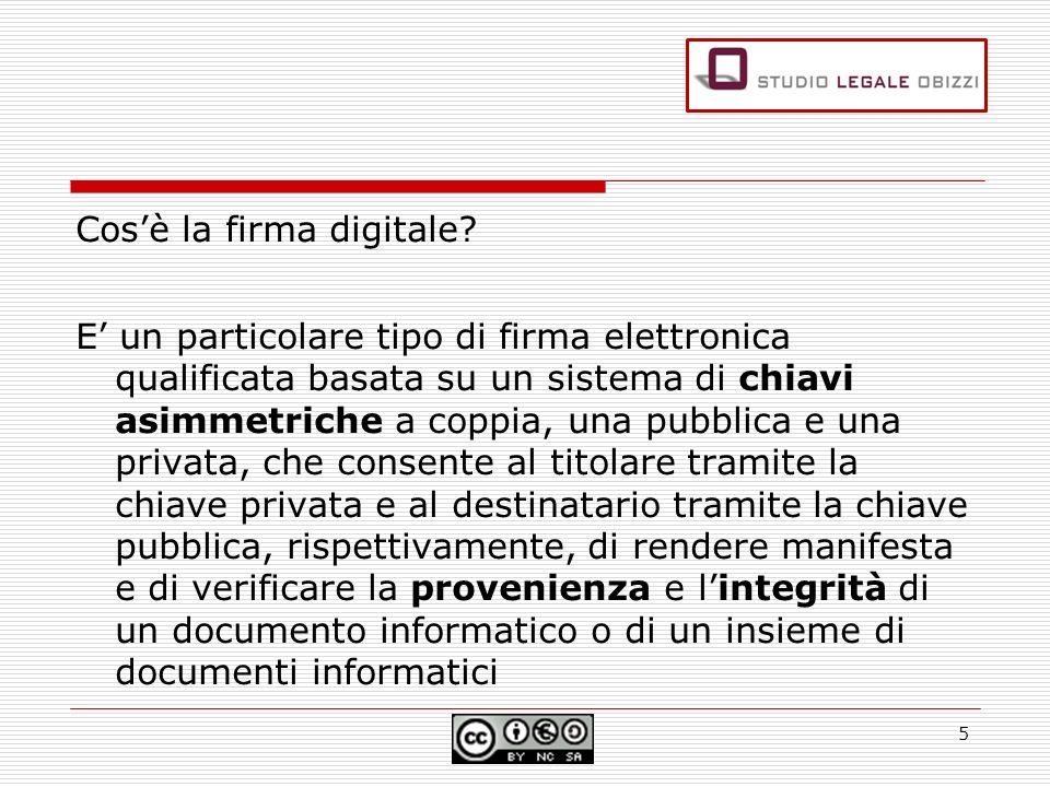 Cosè la firma digitale? E un particolare tipo di firma elettronica qualificata basata su un sistema di chiavi asimmetriche a coppia, una pubblica e un