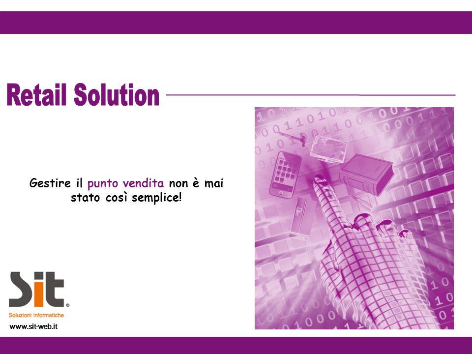 Gestire il punto vendita non è mai stato così semplice! www.sit-web.it