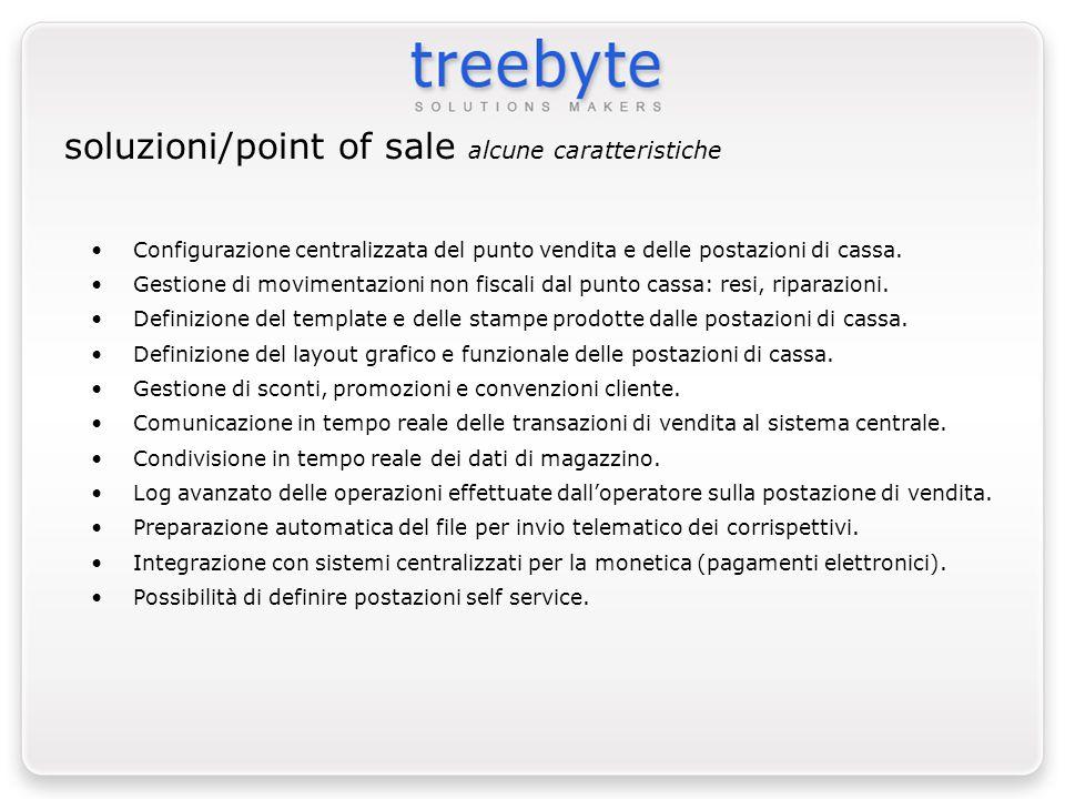 Configurazione centralizzata del punto vendita e delle postazioni di cassa. Gestione di movimentazioni non fiscali dal punto cassa: resi, riparazioni.