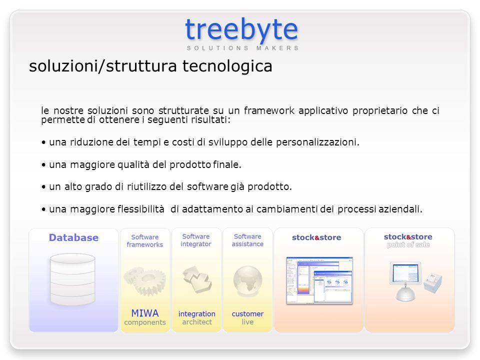 soluzioni/struttura tecnologica centralizzazione dellla struttura software in ununica base dati in tempo reale
