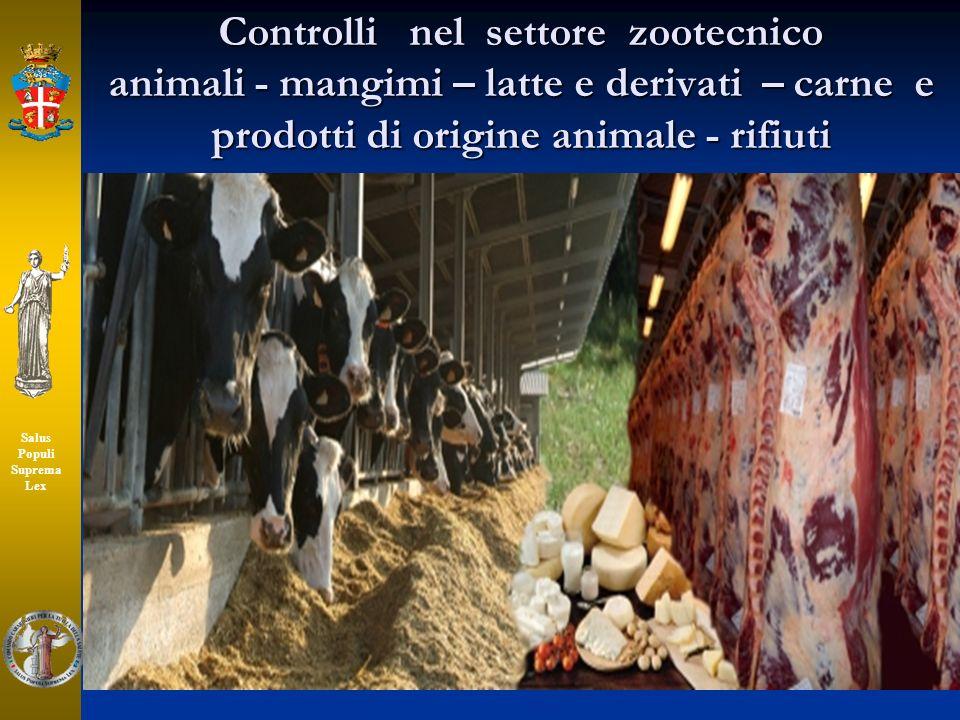 Controlli nel settore zootecnico animali - mangimi – latte e derivati – carne e prodotti di origine animale - rifiuti