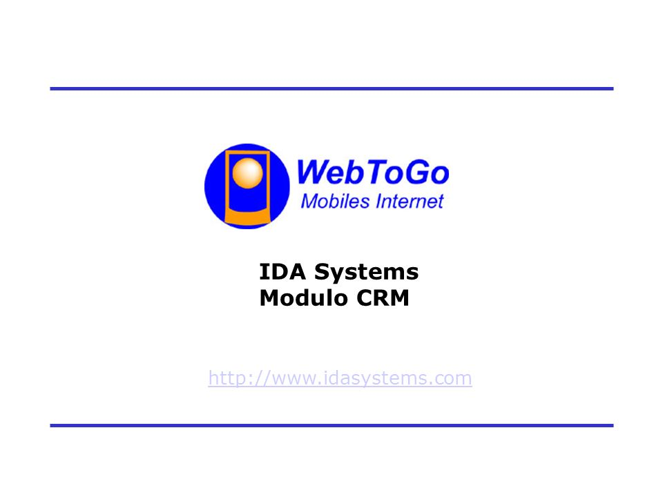 1 IDA Systems Modulo CRM http://www.idasystems.com
