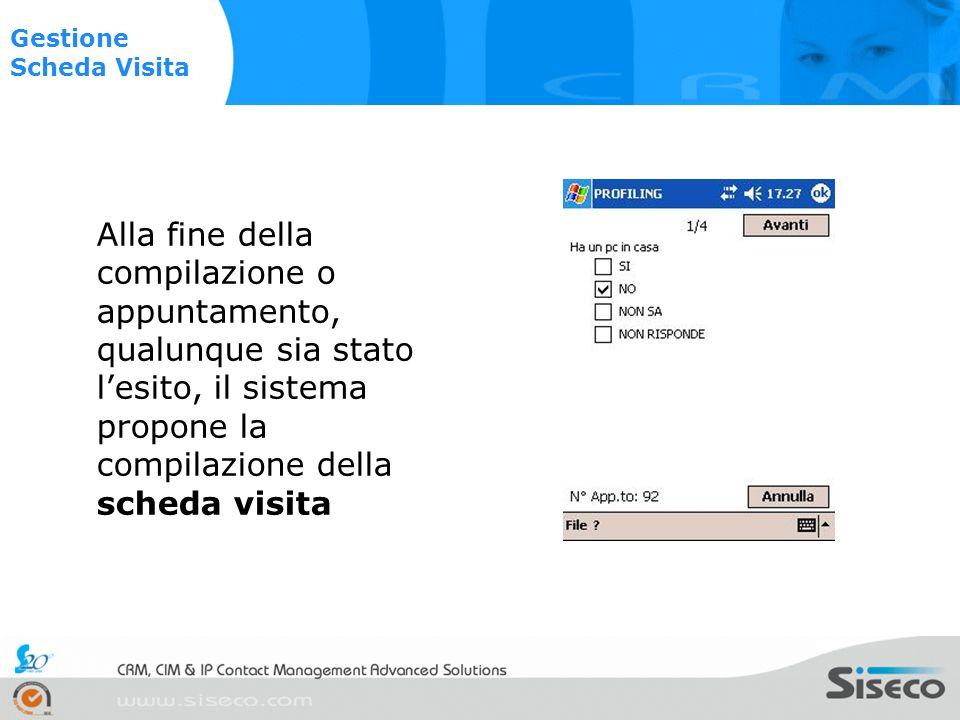 Alla fine della compilazione del tutto, il sistema ripropone la schermata stato dellappuntamento con il nominativo colorato a seconda dellesito.