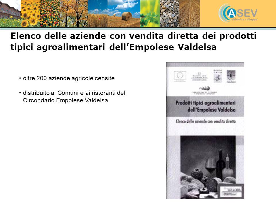 Elenco delle aziende con vendita diretta dei prodotti tipici agroalimentari dellEmpolese Valdelsa oltre 200 aziende agricole censite distribuito ai Co