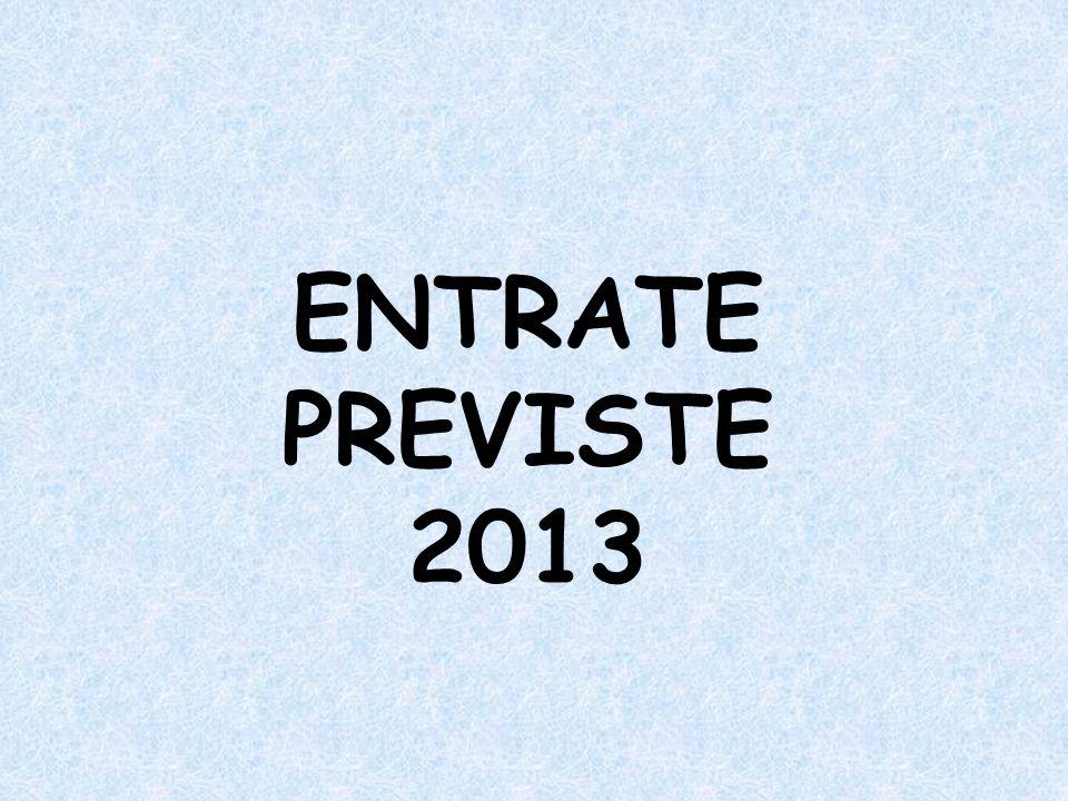 ENTRATE PREVISTE 2013
