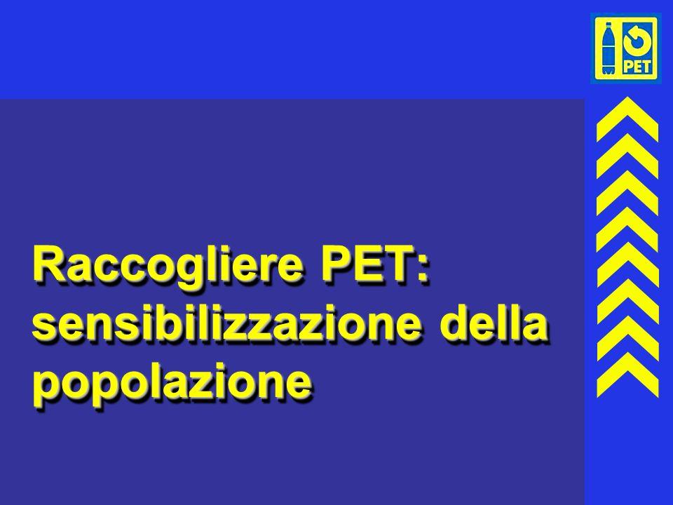 25 Raccogliere PET: sensibilizzazione della popolazione