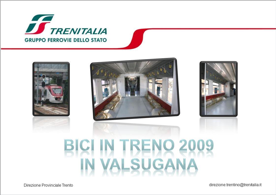 2 Programma Dal 15 GIUGNO AL 13 SETTEMBRE 2009 tutti i treni effettuati con materiale Minuetto, di norma, sono attrezzati per trasportare 32 bici.