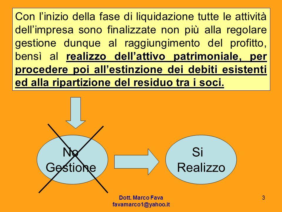 - Stato Patrimoniale: deve indicare lentità del patrimonio netto finale di liquidazione e limporto dellattivo netto realizzato.