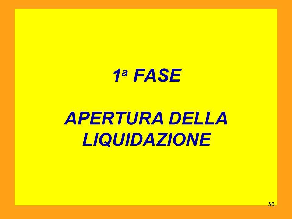1 a FASE APERTURA DELLA LIQUIDAZIONE 36
