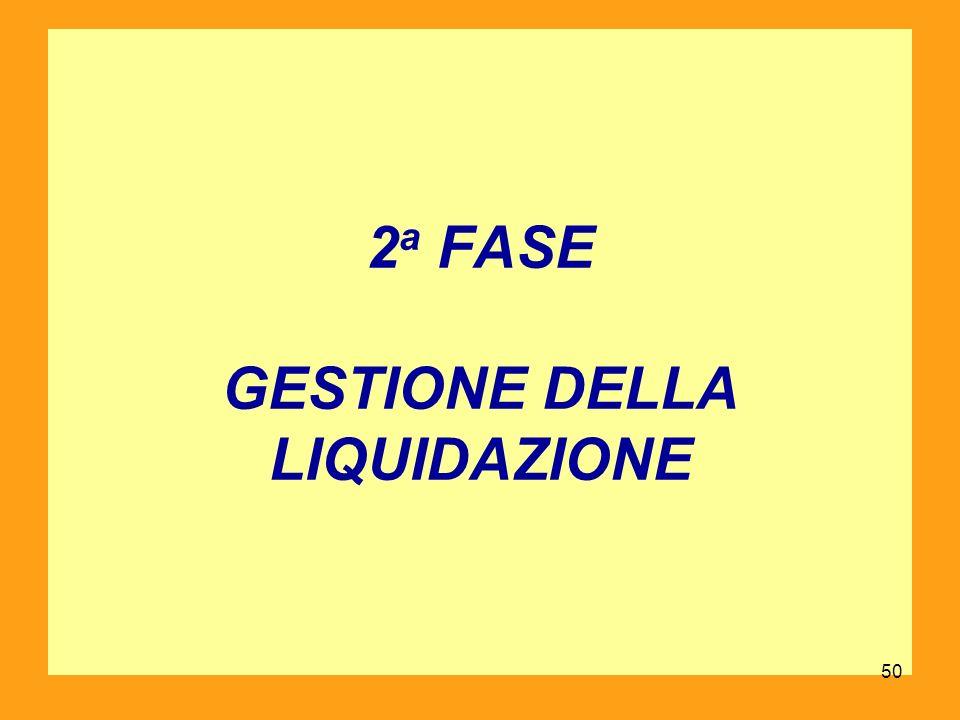 2 a FASE GESTIONE DELLA LIQUIDAZIONE 50