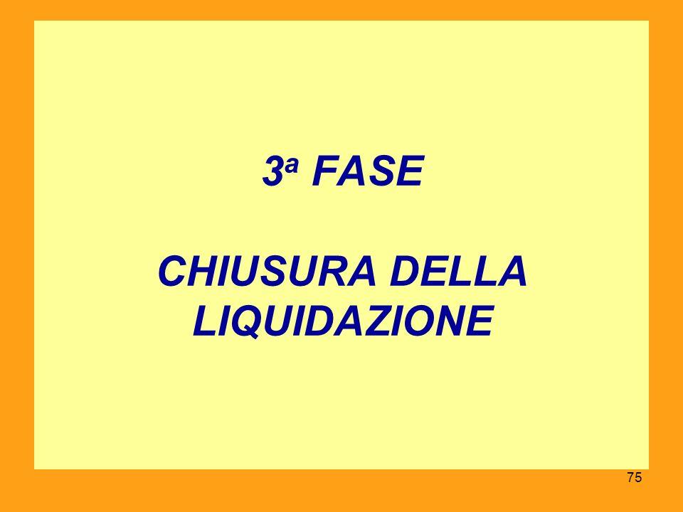 3 a FASE CHIUSURA DELLA LIQUIDAZIONE 75