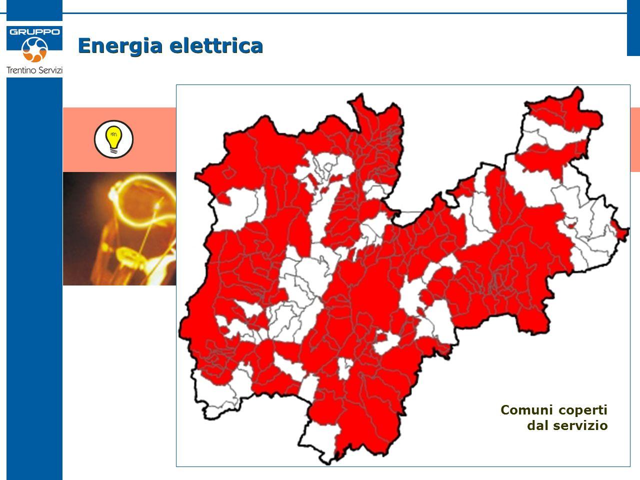 Energia elettrica Comuni coperti dal servizio
