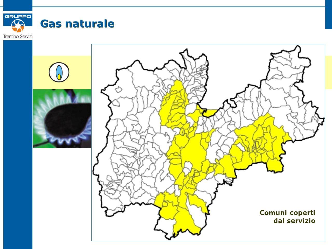 Gas naturale Comuni coperti dal servizio