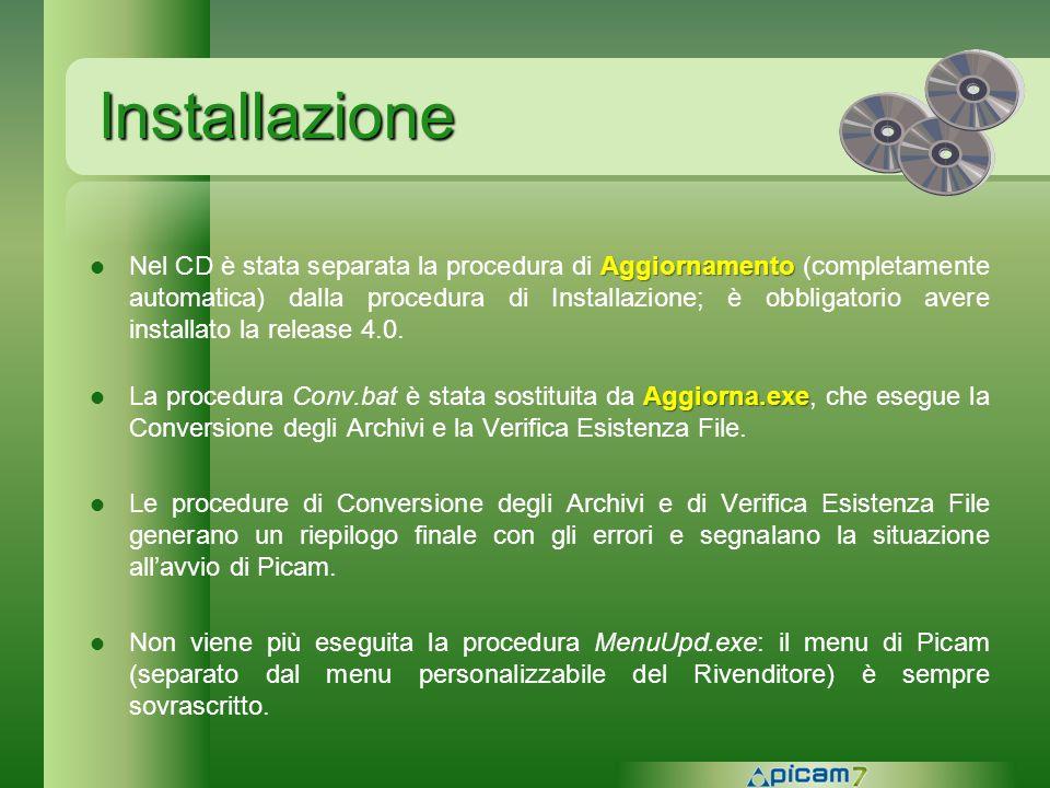 Installazione Aggiornamento Nel CD è stata separata la procedura di Aggiornamento (completamente automatica) dalla procedura di Installazione; è obbli
