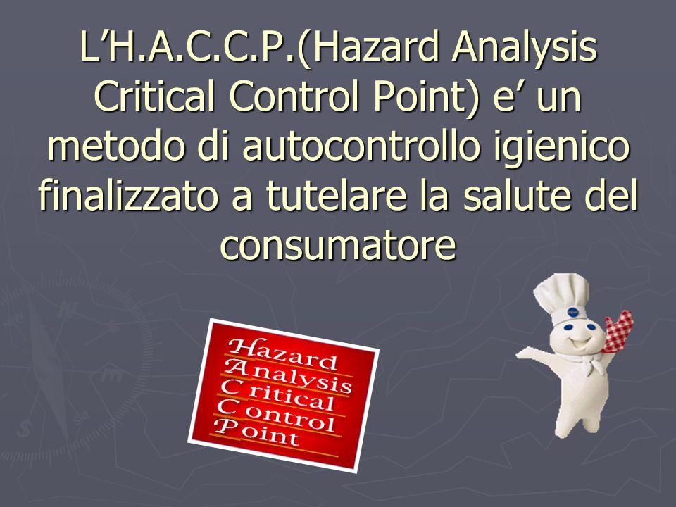 LH.A.C.C.P.(Hazard Analysis Critical Control Point) e un metodo di autocontrollo igienico finalizzato a tutelare la salute del consumatore