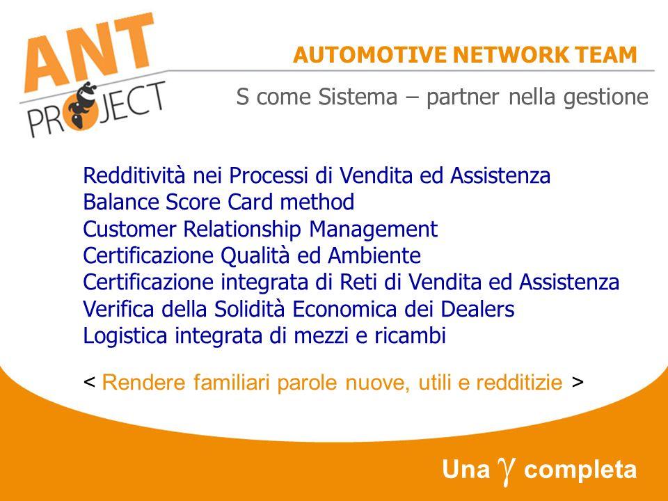 AUTOMOTIVE NETWORK TEAM Avanti Nel Tempo !