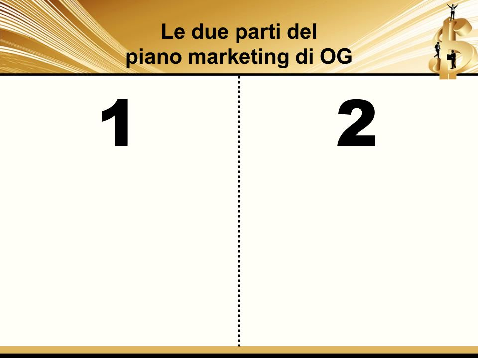 12 Le due parti del piano marketing di OG