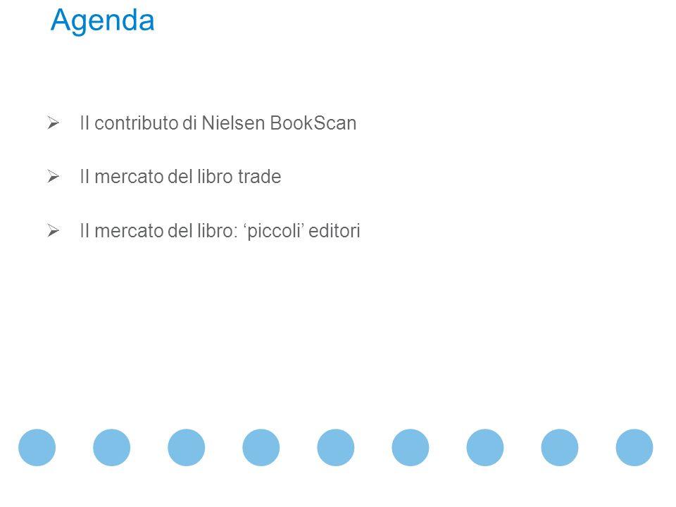 Il contributo di Nielsen BookScan Il mercato del libro trade Il mercato del libro: piccoli editori Agenda