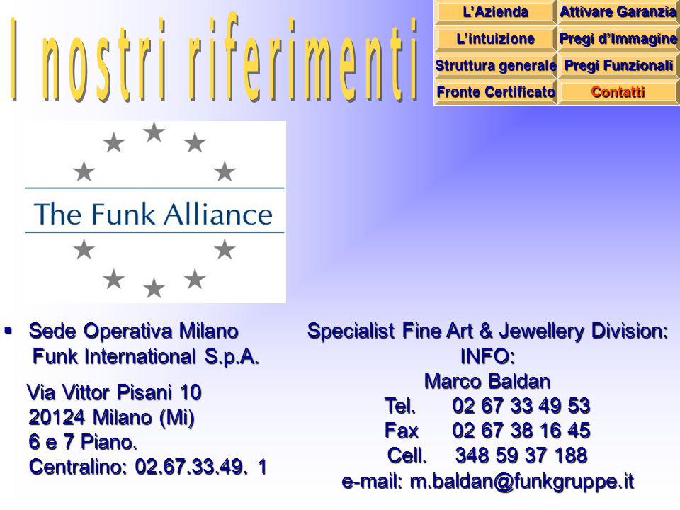Sede Operativa Milano Funk International S.p.A. Via Vittor Pisani 10 20124 Milano (Mi) 6 e 7 Piano.