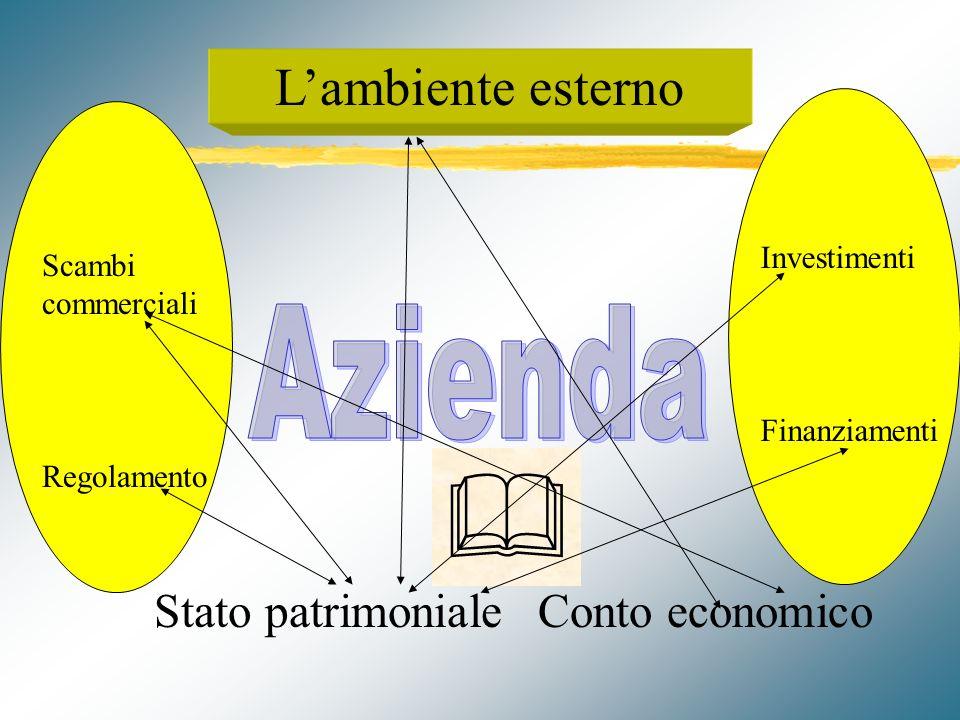 Lazienda interpretata attraverso gli schemi di bilancio Lorganizzazi one aziendale e il sistema informativo Stato patrimonialeConto economico Lambiente esterno Biennio : articolazione modulare (2 a Ipotesi)