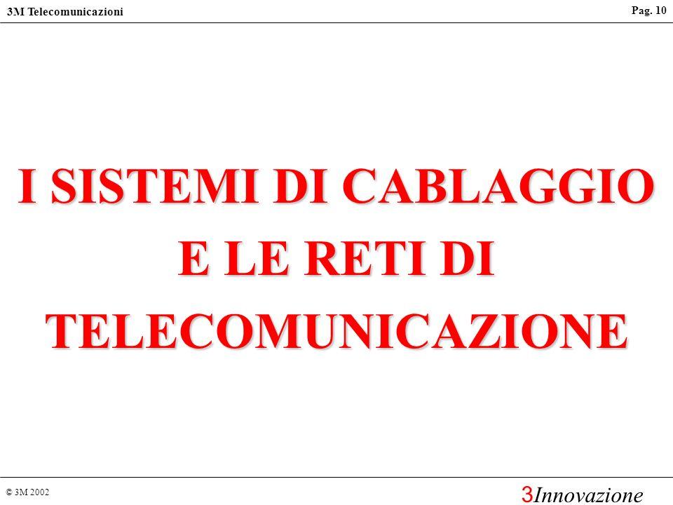 © 3M 2002 3M Telecomunicazioni 3 Innovazione Pag. 9 Servizi per i clienti Corsi di formazione per installatori autorizzati Certificazione finale del c