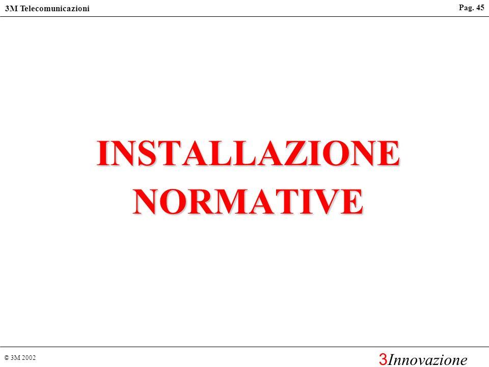 © 3M 2002 3M Telecomunicazioni 3 Innovazione Pag. 44 Aree di risparmio sui costi Raffreddamento/Ventilazione Protezioni dal fuoco attive/passive Contr