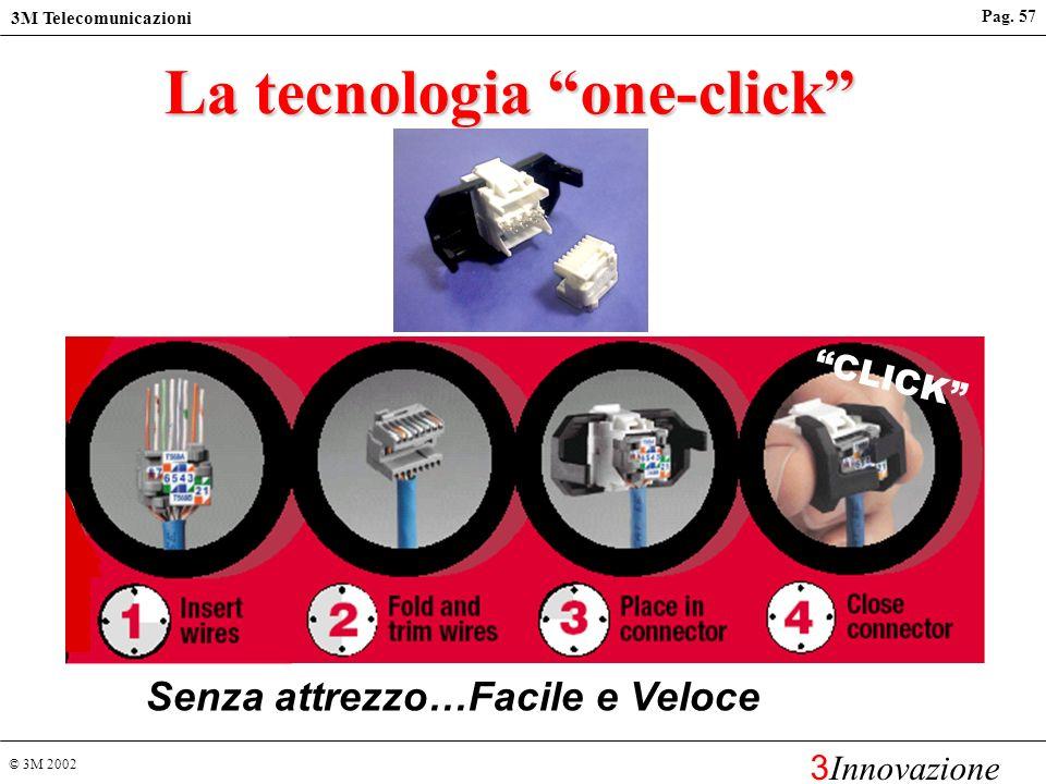 © 3M 2002 3M Telecomunicazioni 3 Innovazione Pag. 56 RJ45 K6 Cat 6 hardware (ISO/IEC 11801 2 nd Edition e TIA/EIA-568B) Il design del connettore RJ45