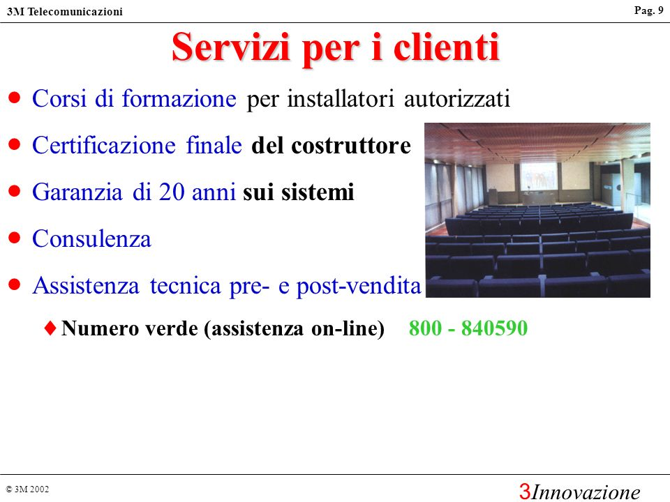© 3M 2002 3M Telecomunicazioni 3 Innovazione Pag.29 Cat.6 hardware vs.