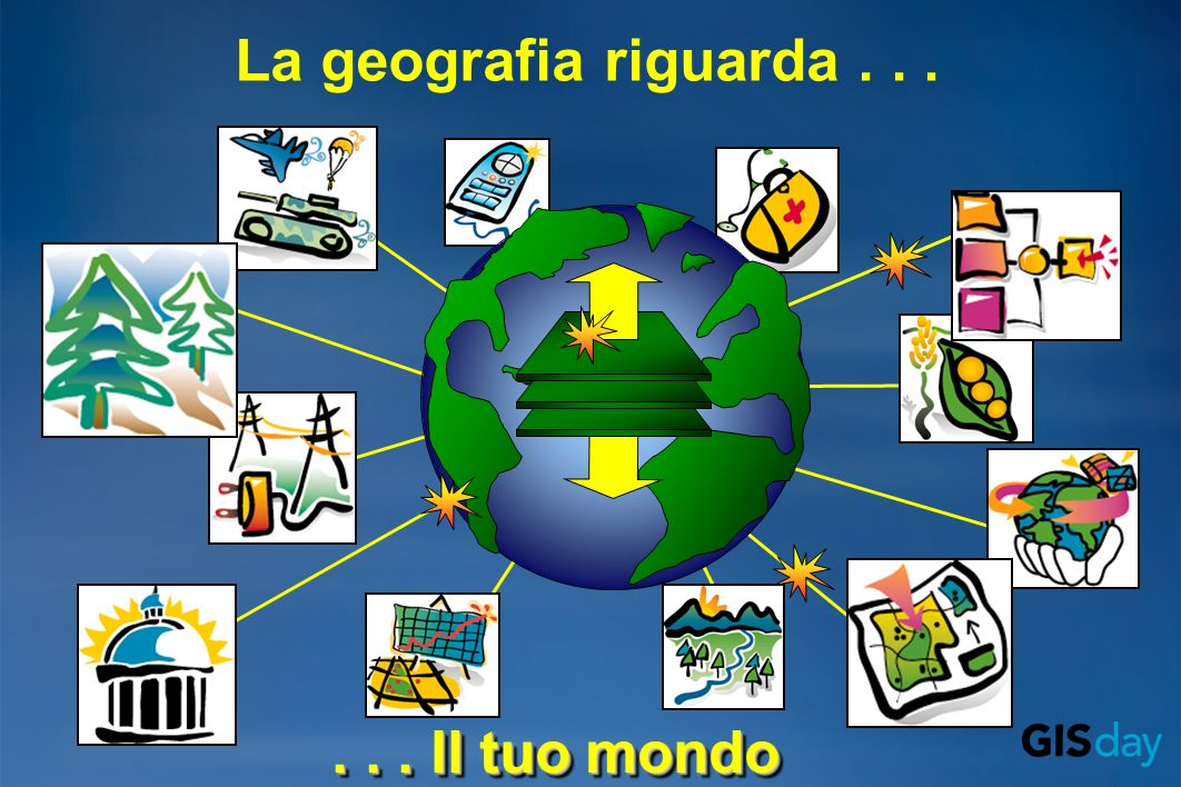 La geografia riguarda...... Il tuo mondo