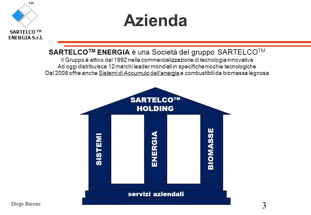 Diego Barone 3 TM SARTELCO TM ENERGIA S.r.l. Azienda SARTELCO TM ENERGIA è una Società del gruppo SARTELCO TM Il Gruppo è attivo dal 1992 nella commer
