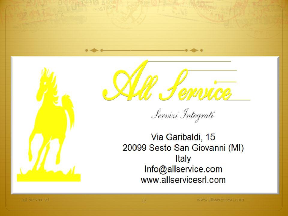 All Service srl www.allsservicesrl.com 12