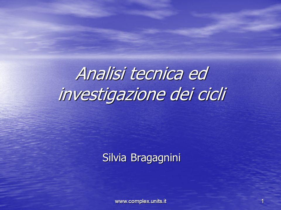 www.complex.units.it1 Analisi tecnica ed investigazione dei cicli Silvia Bragagnini