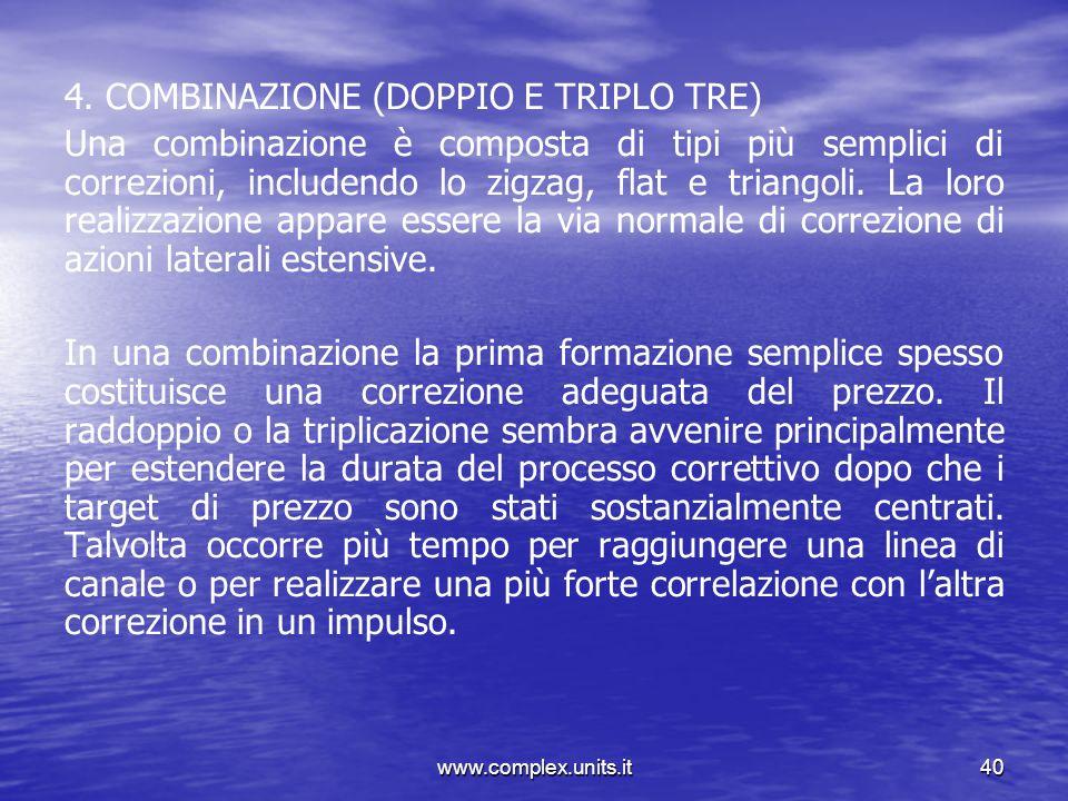 www.complex.units.it40 4. COMBINAZIONE (DOPPIO E TRIPLO TRE) Una combinazione è composta di tipi più semplici di correzioni, includendo lo zigzag, fla