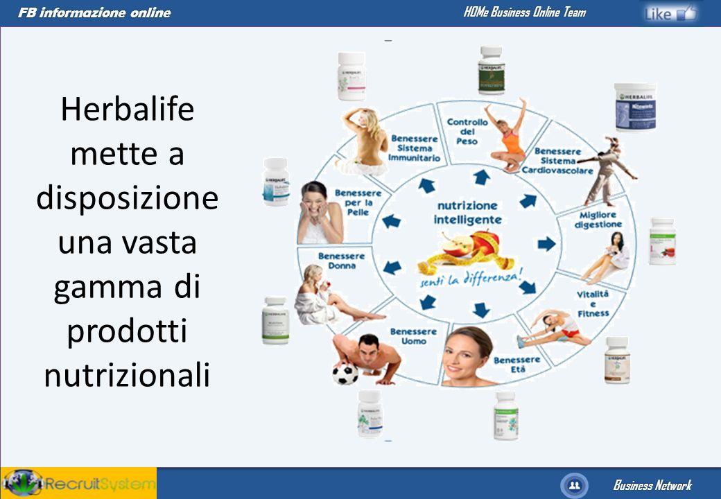 FB informazione online Business Network HOMe Business Online Team Herbalife mette a disposizione una vasta gamma di prodotti nutrizionali