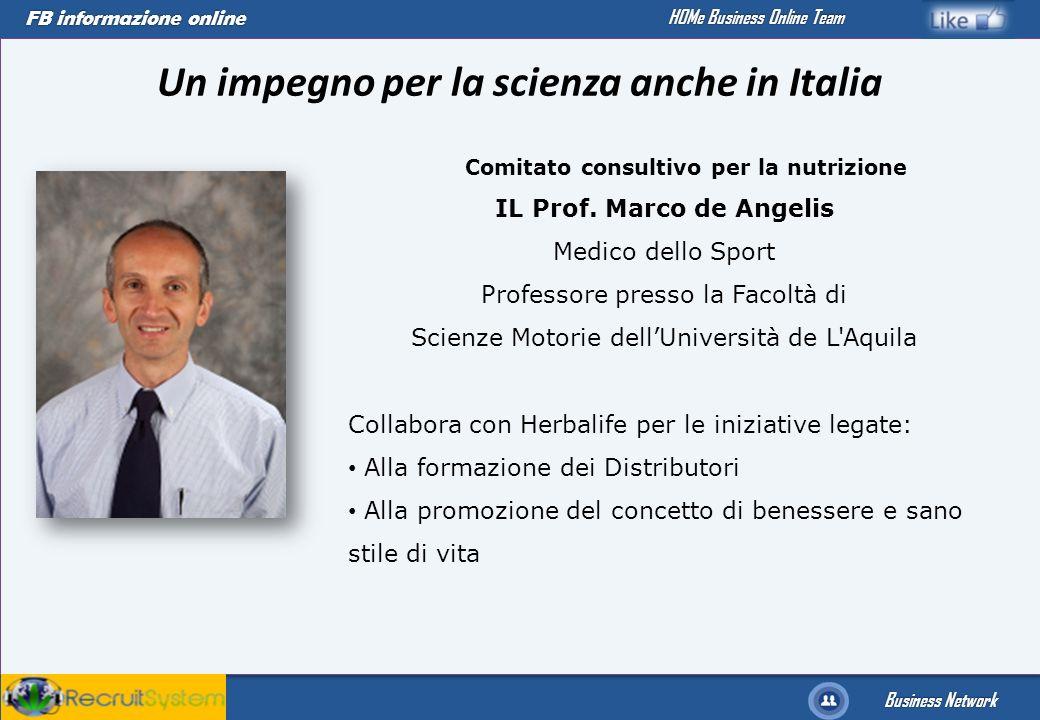 FB informazione online Business Network HOMe Business Online Team Un impegno per la scienza anche in Italia Comitato consultivo per la nutrizione IL P